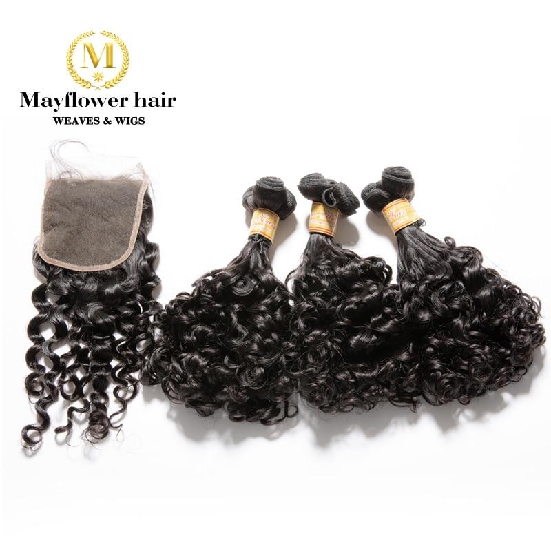 MFH Funmi Hair Amazing Curl 2/3/4 Bundles With 4x4