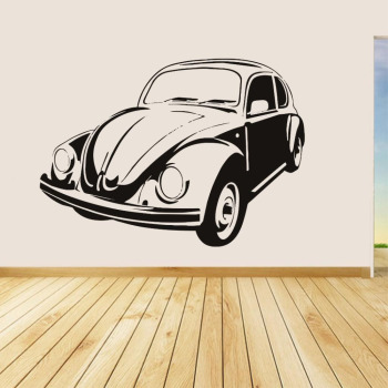 Vw Beetle Vinyl Wall Decal Retro style Removable Home Decor Living Room Art Mural Decals Vehicle Stickers Perfect Quality ZA397 image