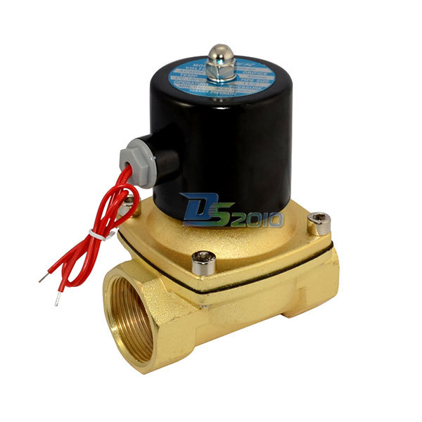 MEGAIRON 1.5 AC 220V Solenoid Valve NPT Direct Water Air Oil Gas Normally Closed Electric Solenoid Valve u s solid 3 4 stainless steel electric solenoid valve 110 v ac g normally closed diesel kerosine alcohol air gas oil water