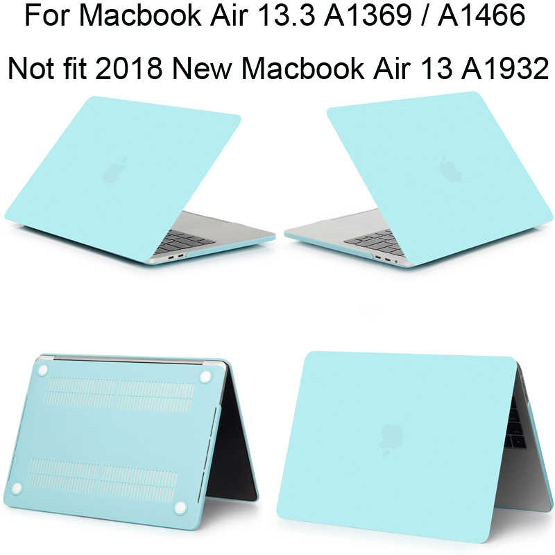 "Caso de cor matte para macbook air 13.3 a1466 a1369 capa macbookair 13 polegada protetor manga escudo air13 13.3 ""fundas"