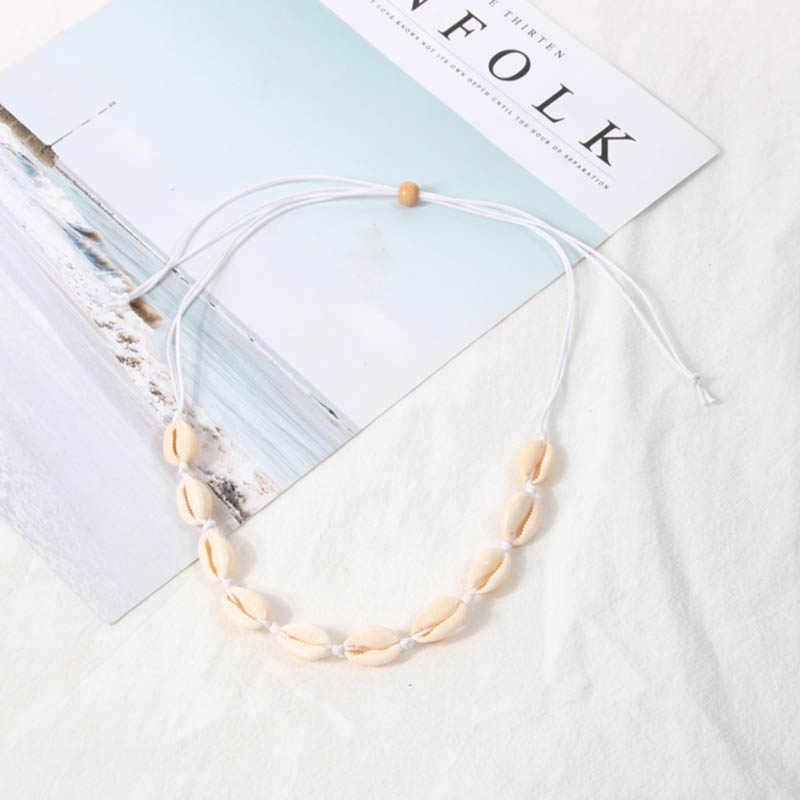 Boho Sea Shell Choker Necklace Women Natural Shell Jewellery Chocker Simple Neckless For Summer Beach Gift