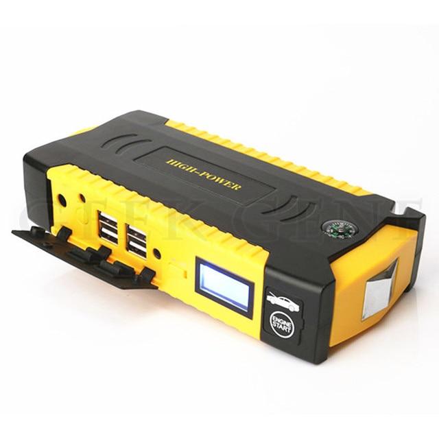 12V 600A Peak Car Battery Charger Multi-Function 16000mAh Car Jump Starter 4USB Phone Laptops Power Bank SOS Light Mini Compass
