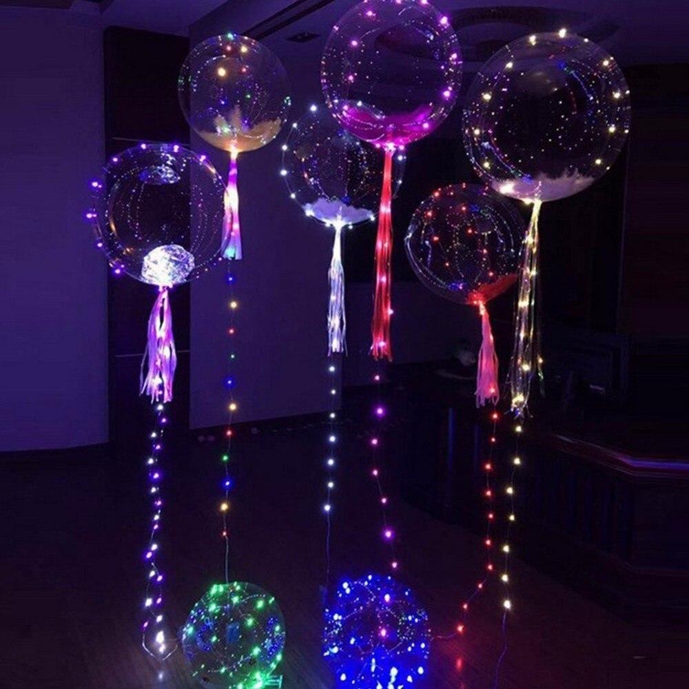 18Inch Luminous Led Balloon LED Air Balloon String Lights Round Bubble Helium Balloons Kids font b