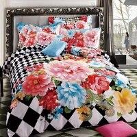Textiles Para El hogar se casó con 100% fundas de edredón de algodón 100% activa inclinada estampado de rayas de algodón sábanas juego de cama rosa