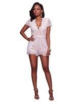 ملابس الشاطئ مثير إمرأة يربطون شبكة ارتداءها المرأة الصيف التطريز جوفاء نحيل playsuit بذلة جديدة جديدة