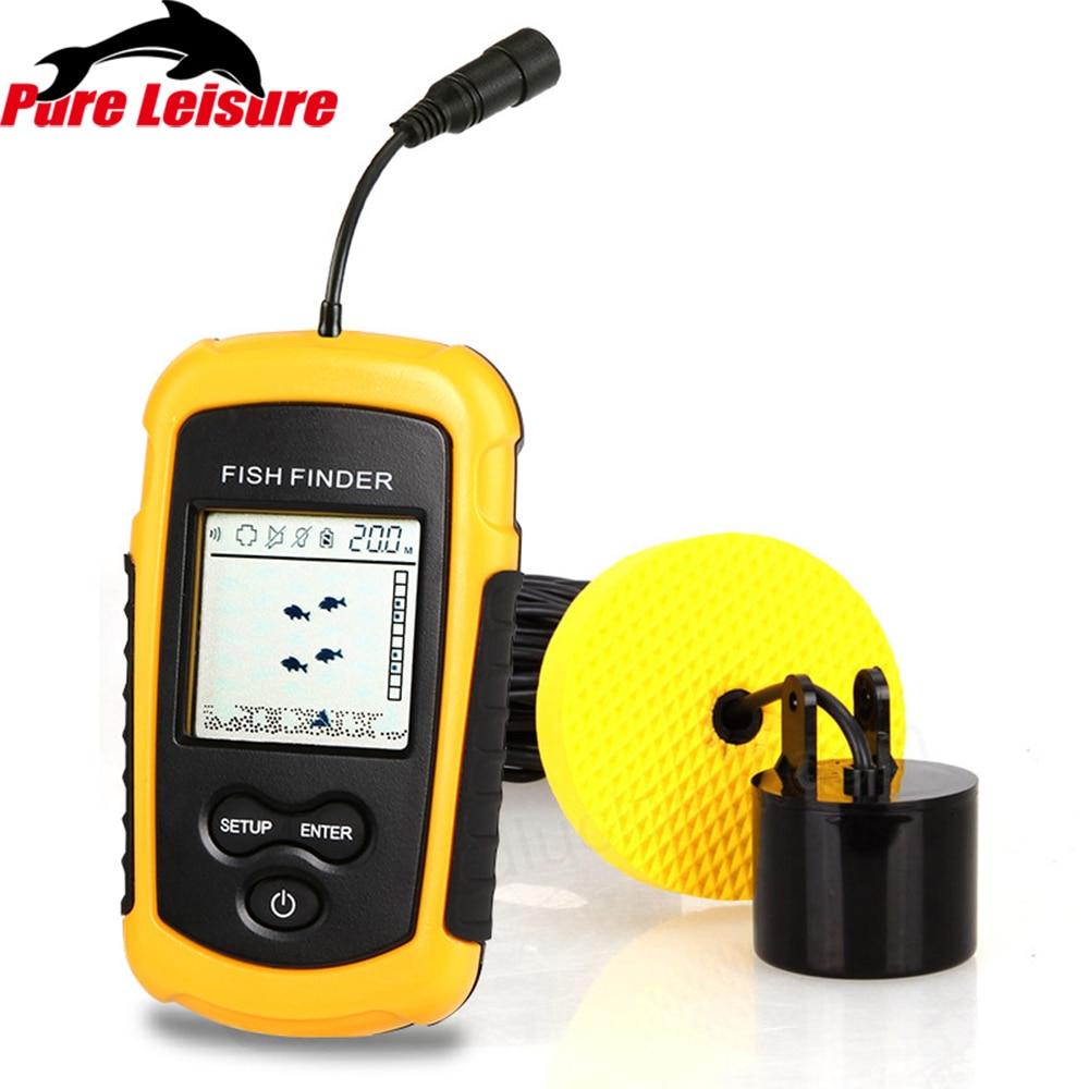 PureLeisure 2 pouces FF1108-1 Sonar à poisson Buscador De Peces Outlife détecteur De poisson pare-soleil détecteur De pêche Sonar d'alarme De Pesca FF03