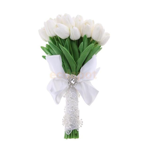 Künstliche Blume Simulation Braut Bouquet Weiße Tulpe Hochzeit ...