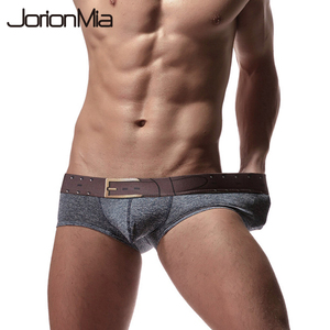 New Belt Pattern Classic Men's Boxer Underwear Shorts Cotton Boxers Sexy Underpants Men Brand Homme Pull in Male Panties E-020