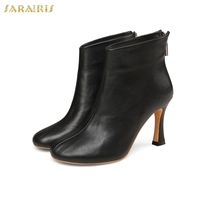 6630876a55 SARAIRIS New Arrivals Wholesale High Heels Genuine Leather Sheepskin Boots  Women Shoes Fashion Party Shoes Woman