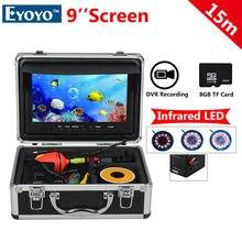 Free shipping!EYOYO WF09 15m  Fish Finder 8GBIR 9″ LCD 1000TVL Fishing Camera DVR Recorder Sunvisor