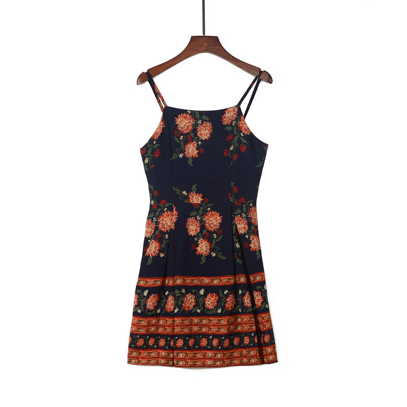 HTB1DzPJiEUIL1JjSZFrq6z3xFXal - FREE SHIPPING Women  Summer Patchwork Sleeveless Print Floral Mini Dress JKP328