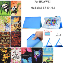 Fashion Leather Flip Wallet Cover Shell Skin Stand Tablet Coque Funda For Huawei MediaPad T5 10 10.1 AGS2-W09/L09/L03/W19 Case slim business retro flip stand cover case for huawei mediapad m5 lite 10 case bah2 w09 bah2 l09 bah2 w19 10 1 tablet shell