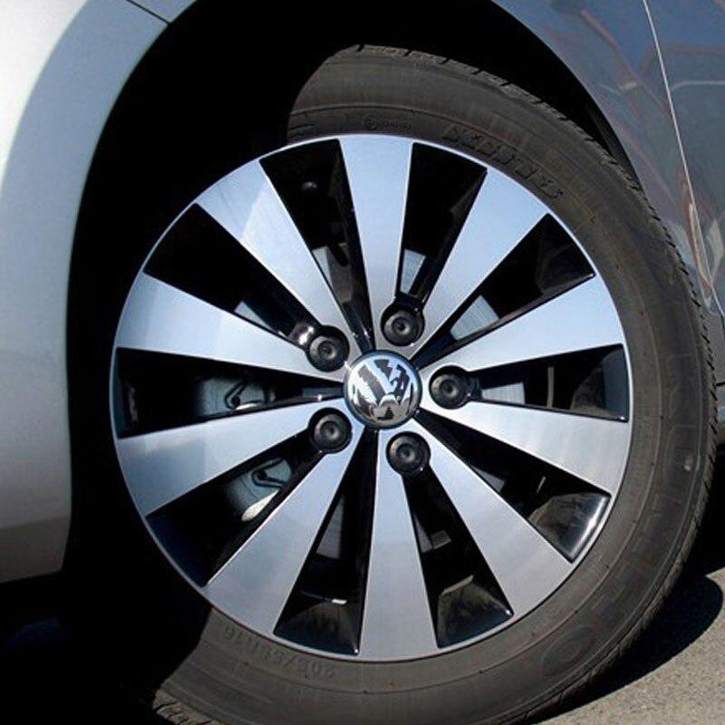 RUOTA IN LEGA NERO perni di bloccaggio per VW Touran M14 RAGGIO SICUREZZA ALETTA-rbxb