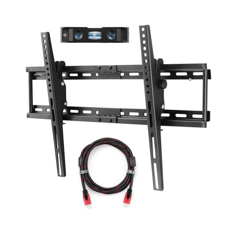 Support mural TV pour la plupart des 32-70 pouces Plasma plat TV capacité de charge 165lbs 15 degrés inclinaison vers le bas, Max VESA 600x400