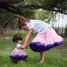 Детская юбка пачка для маленьких девочек; детские юбки для танцев; юбка-американка; юбка-пачка; светильник; цвет розовый, темно-фиолетовый