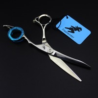 Top grade sapphire kéo tóc 6 inch thợ cắt tóc chuyên nghiệp làm tóc kéo cắt shears tijera peluquero với trường hợp
