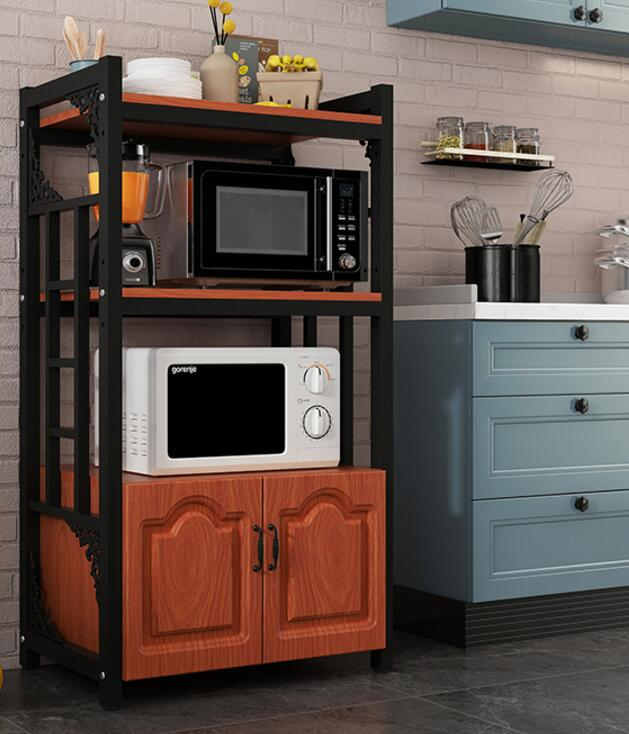 Kitchen racks floor space space home multi-layer microwave oven racks multi-function storage oven storage cabinet