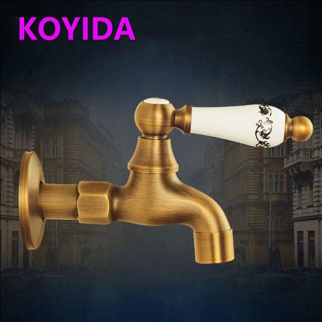 KOYIDA Antique Garden Taps Decorative Garden Faucets Brass Outdoor ...
