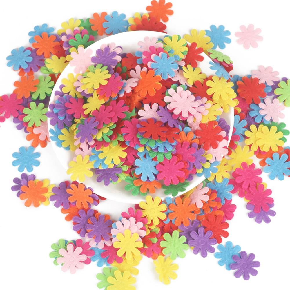100 шт цветок/Сердце/Бабочка Нетканая фетровая ткань Войлок DIY Набор для шитья кукол скрапбук DIY ремесленные принадлежности
