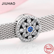 925 sterling silver Sparkling CZ elegant Everlasting flower clips beads Fit Original reflection Clip Charm Bracelet Jewelry(China)