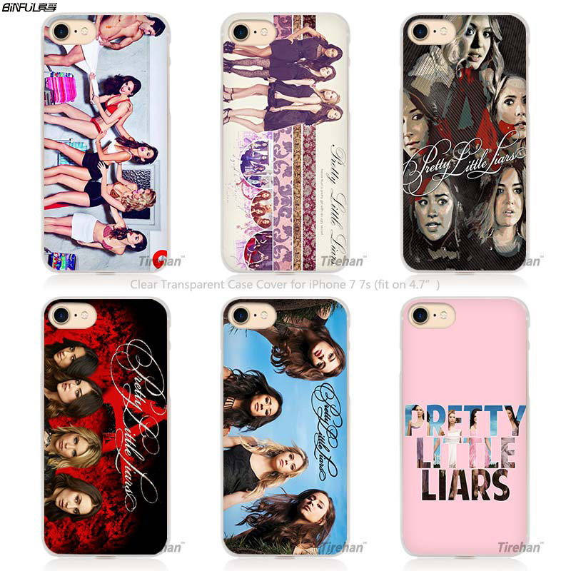 the latest fbc6a b43ff US $1.79 40% OFF|BiNFUL Pretty Little Liar TV Series Hard Transparent Phone  Case Cover Coque for Apple iPhone 4 4s 5 5s SE 5C 6 6s 7 Plus-in ...
