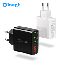 Elough LED Display 3 Port EU US USB Charger For IPhone Samsung Mobile Phone Fast Charge