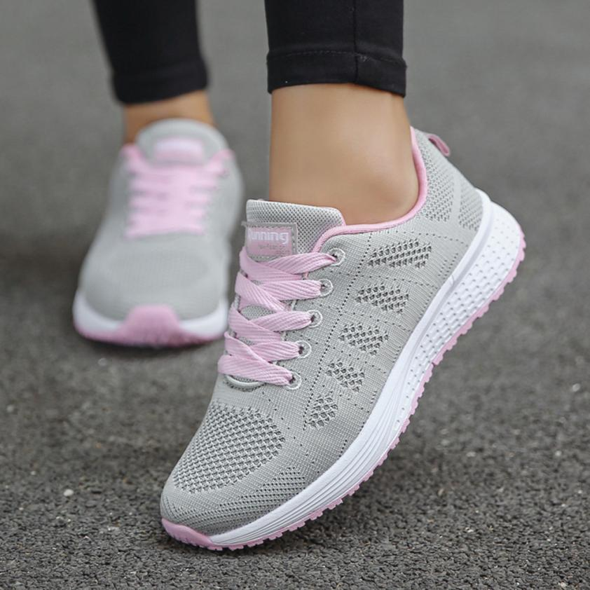 US $8.44 45% OFF|Hot Sale Sport shoes woman Air cushion Running shoes for women Outdoor Summer Sneakers women Walking Jogging Trainers breathable in
