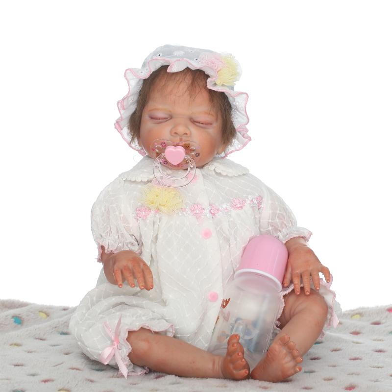 50cm Reborn Baby Dolls Handmade Alive Cotton Body Reborn Doll Lifelike Sleeping Girl Babies Toy Christmas Gift  Bed Play Toy50cm Reborn Baby Dolls Handmade Alive Cotton Body Reborn Doll Lifelike Sleeping Girl Babies Toy Christmas Gift  Bed Play Toy