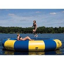Надувные водные перемычки плавающие игрушки воды гимнастика, батут для продажи воды хвастун надувной батут море прыжки кровать