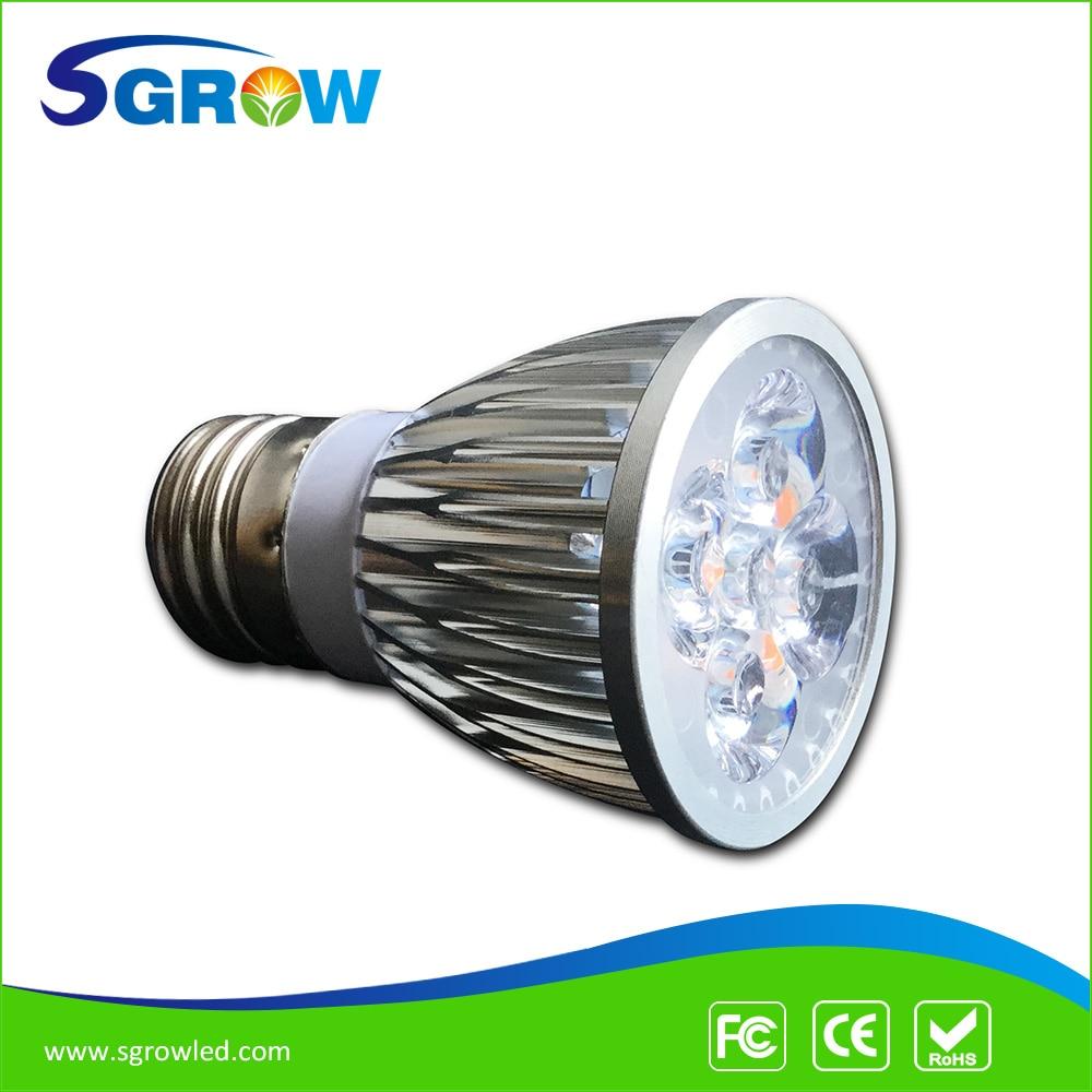 full spectrum led grow lights bulbs e27 led lamp 400nm840nm with 3w bridgelux