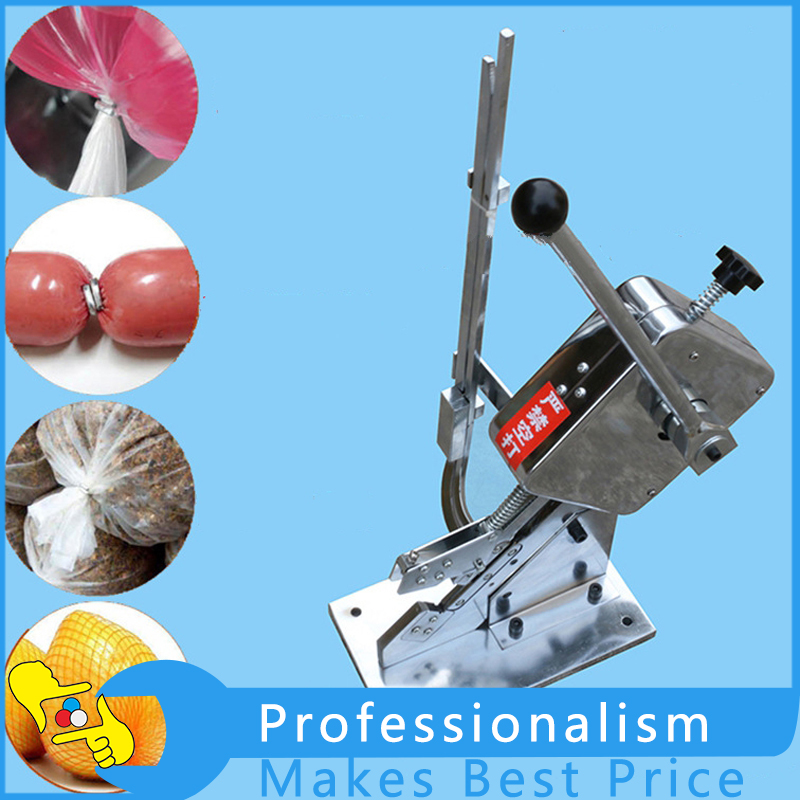 Manual U-shape Sausage Clipper Clipping Machine With High Quality zonesun 1 box buckle for manual u shape 506 503 sausage clipper clipping machine maker clips for supermarket tightening machine