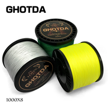 GHOTDA 8 Strands 1000M 500M 300M PE Braided Fishing Line tresse peche Saltwater Fishing Weave Superior Extreme Super Strong