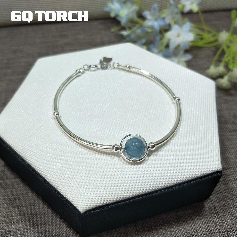 Natural Birthstone 925 Sterling Silver Bracelets For Women Crystal Hand String Multi Gemstone Fine Jewelry
