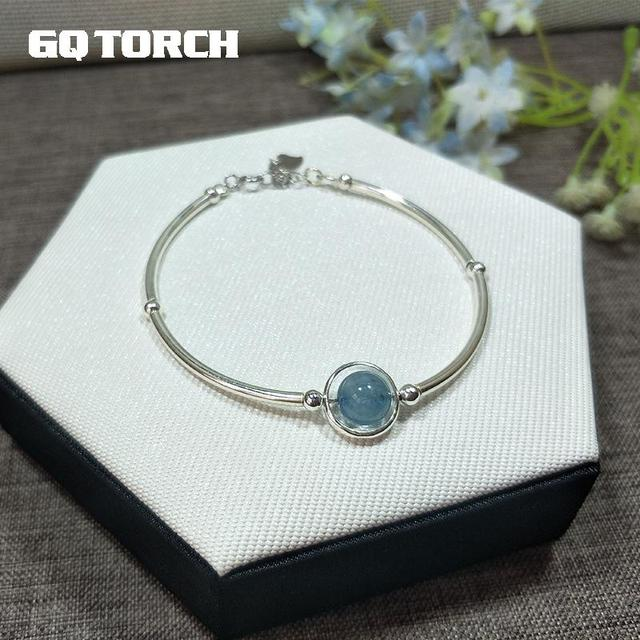 fce6179f9667 Лучшая покупка Натуральный камень 925 браслеты стерлингового серебра ...