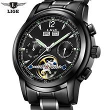 Relojes lige мужской автоматический механические часы Спорт Мужчины Элитный бренд часы мужские наручные часы армия часы Relogio Masculino