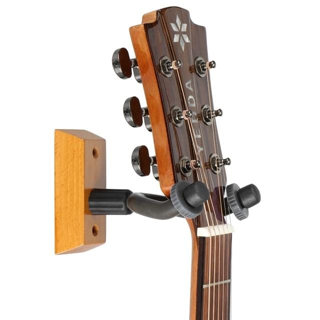Wall Mounted Wooden Guitar Storage Rack Holder Vintage Ukelele Bass Guitar  Stand Shelf Gifts Home School