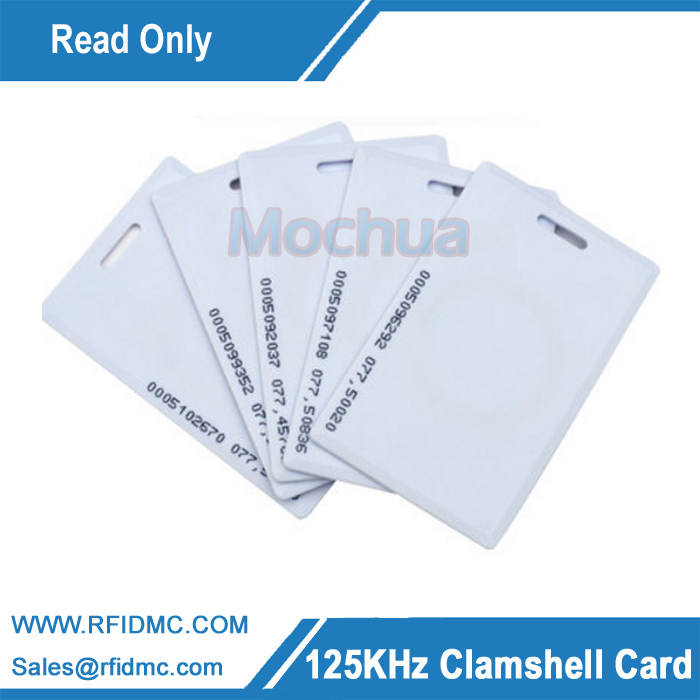EM4100 long Distance RFID thick card, 125khz clamshell card, 125khz thick card
