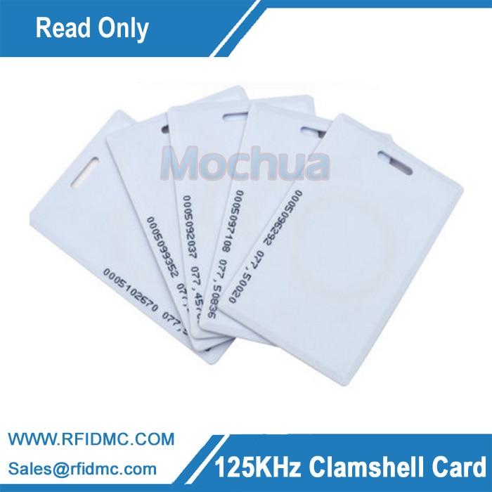 EM4100 Long Distance RFID Thick Card, 125khz Clamshell Card, 125khz Thick Card