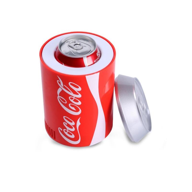 Portebla Small Fridge Hot And Cold Cooler Gadget Beverage Tanks Cooler Warmer Refrigerator Small Movable Fridge Cooler Fridge