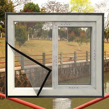 Moskitiery do okien samoprzylepne ekrany niewidoczne moskitiery DIY magiczne naklejki proste okno przesiewowe niestandardowe tanie i dobre opinie eachome Drzwi i okna ekrany Hook Loop Zapięcie H2011 Z włókna szklanego