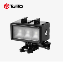 Tolifo HF-0301 Dimmable Waterproof Underwater LED Video Gentle with Constructed-in Battery Diving Fash Gentle for Gopro Sjcam Xiaomi yi