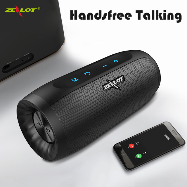 ZEALOT S16 HIFI Bluetooth Speaker Super Bass Wireless Stereo Soundbar AUX TF Card Play Outdoor Handsfree With Mic Touch Control
