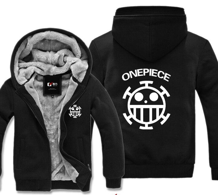 One Piece Trafalgar Law Pirates de cœurs hiver Hoodies sweat décontracté mâle vestes à capuche manteau châle hommes tissu