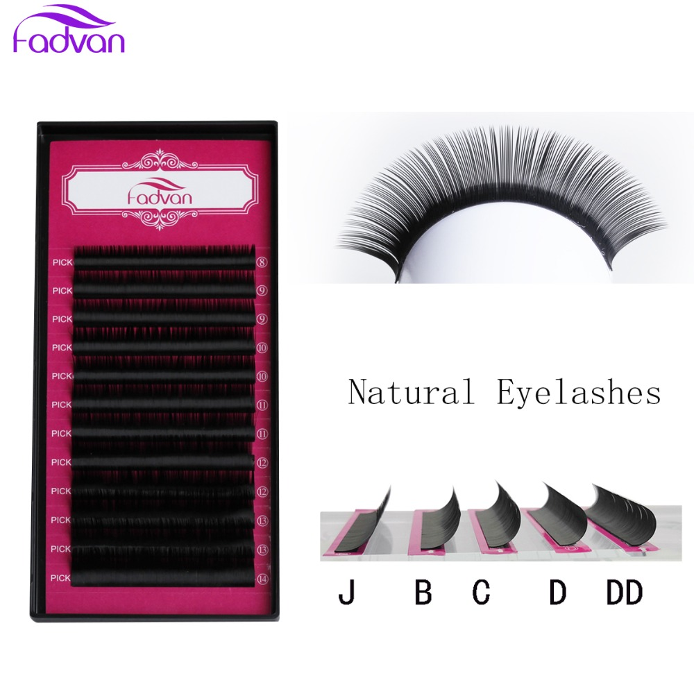 277a8442517 1 Case Eyelash Extensions Natural Thick Individual Lashes Faux Mink Eyelash  Extensions