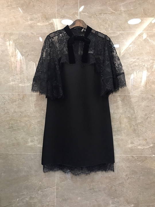 2019 new high end fashion women's clothing collar sweet bowknot dress 226