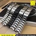 Ремешок Для часов Casio EF-527 500 524 Прочной Нержавеющей стали Смотреть группы Браслет Часы Аксессуары Серебро Черный Ремешок + Инструменты