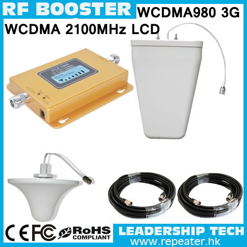 Wholesale LCD Display WCDMA980 2100Mhz 3G UMTS980 WCDMA W-CDMA/UMTS 2100mhz 3G Mobile/cell Phone Signal Repeater Booster