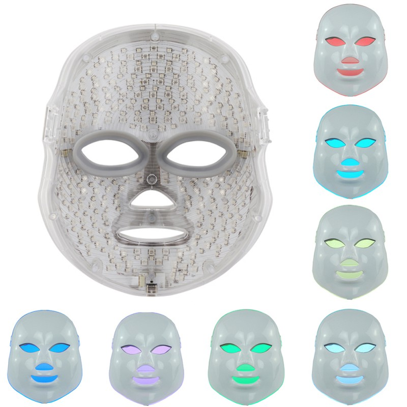7Colors Light Electric LED Facial Mask Home Use Skin Skin Rejuvenation Anti Acne Wrinkle Removal Therapy Beauty Salon