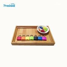 Erken eğitim seti kilidini oyuncaklar Montessori yaşam yardımcıları Montessori eğitimi destekleyicileri Montessori erken eğitim eğitici oyuncaklar
