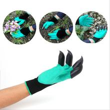 цена Garden gloves With Claws 4 ABS Plastic Garden Genie Rubber Gloves Quick Easy to Dig and Plant For Digging Planting 1 Pair